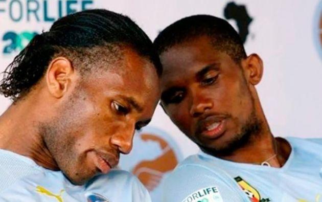Didier Drogba, de Costa de Marfil, y Samuel Eto´O, de Camerún, son los grandes históricos del fútbol africano.