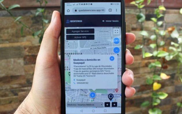 La aplicación permite localizar donde se venden insumos médicos y su modalidad de venta.