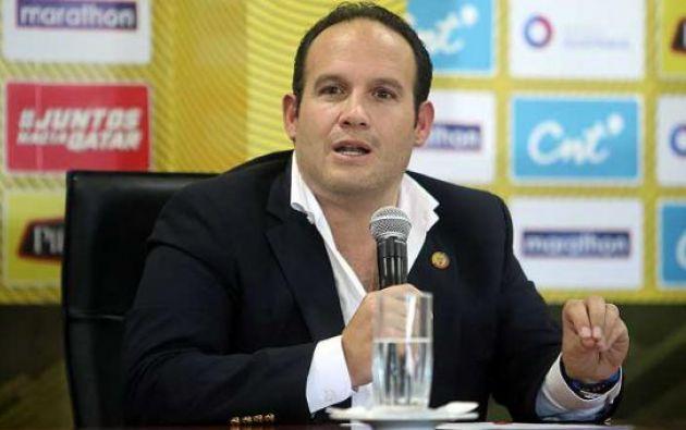 Francisco Egas, presidente de la Federación Ecuatoriana de Fútbol, brindó una entrevista en la cual dio detalles del recorte salarial del cuerpo técnico de la Selección, encabezado por los españoles Antonio Cordón y Jordi Cruyff.