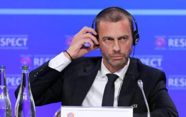 Aleksander Ceferin, presidente de la UEFA, califica la terminación de la liga belga como algo prematuro.