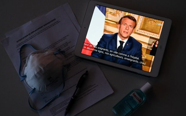 Francia tiene un total de total de 14.967 decesos desde que empezó la pandemia. Foto: AFP.
