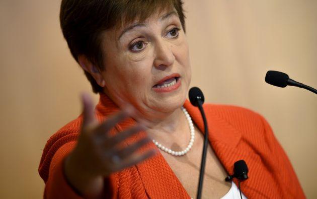 Kristalina Georgieva, directora general del FMI. Foto: AFP