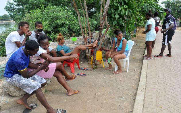 Nigeria, donde habitan 8.000 familias, se levanta al pie del estero Mogollón. Foto: AFP