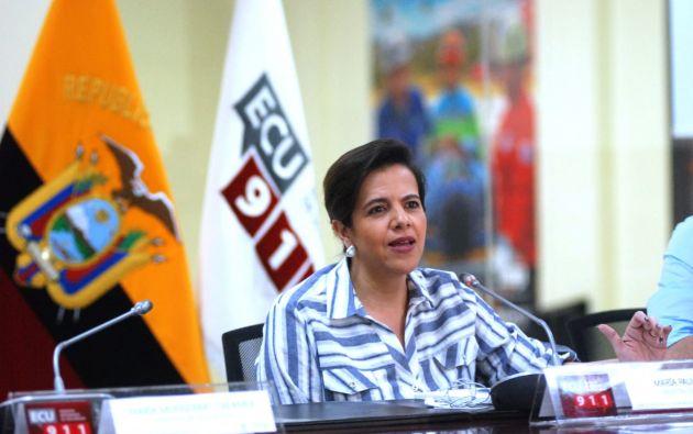La ministra de Gobierno, María Paula Romo, destacó una mejoría en las estadísticas de contagio en el momento de los primeros síntomas, una reducción de la presión sobre los sistemas de emergencia y las llamadas a servicios de telemedicina para el COVID-19.