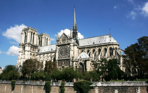 Catedral de Notre Dame antes del incendio. Foto: Pixabay.