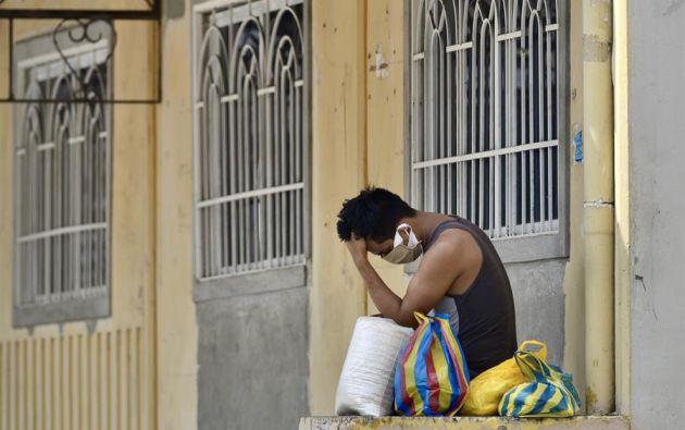 """Guayaquil se vio convertida en la """"Wuhan ecuatoriana"""" con el 53,2 % de los casos de contagio. Foto: EFE"""