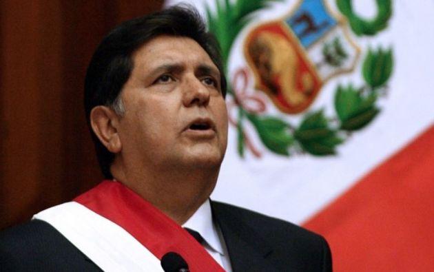 expresidente peruano Alan García. Foto: AFP.