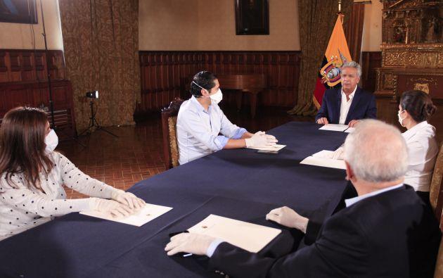 El presidente de la República, Lenín Moreno, confirmó el beneplácito de los tenedores de bonos para postergar el pago de los intereses.