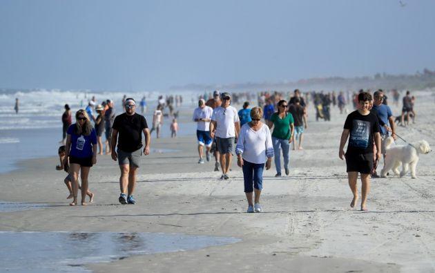 Jacksonville Beach fue una de las primeras en reabrir en el estado de Florida, EE.UU. Los casos van en aumento dentro de este Estado.