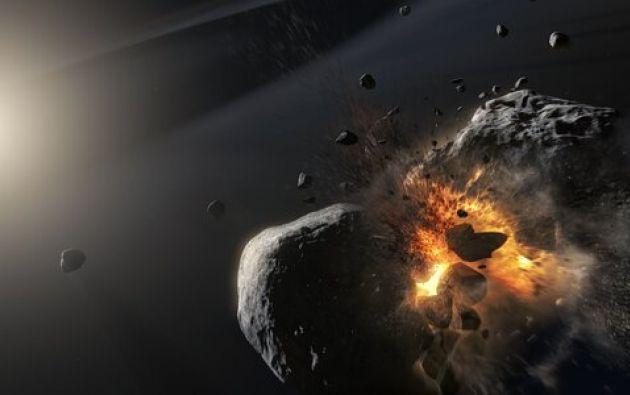 Lo que ahora se ve en lugar del supuesto planeta, es una expansión de partículas de polvo muy finas causadas por una colisión titánica entre dos cuerpos. Imagen: ESA.
