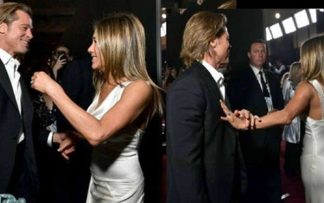 Brad Pitt y Jennifer Aniston que estuvieron casados desde el 2000 y el 2005. Sin embargo, en su último reencuentro público, estas fotos dieron la vuelta al mundo.