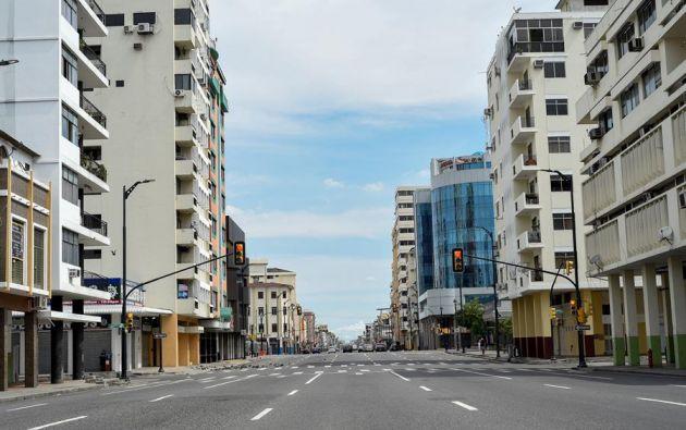 Ecuador cumple la quinta semana de confinamiento con suspensión de actividades laborales. Foto: EFE