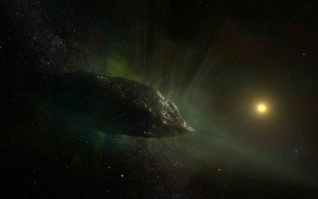 Ilustración del cometa 21/Borisov que viaja alrededor del planeta tierra. Imagen obtenida por Reuters.