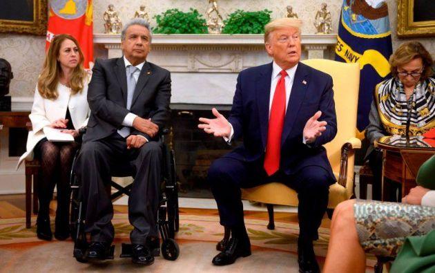 Trump habla con Lenín Moreno y promete enviar respiradores a Ecuador. Foto archivo