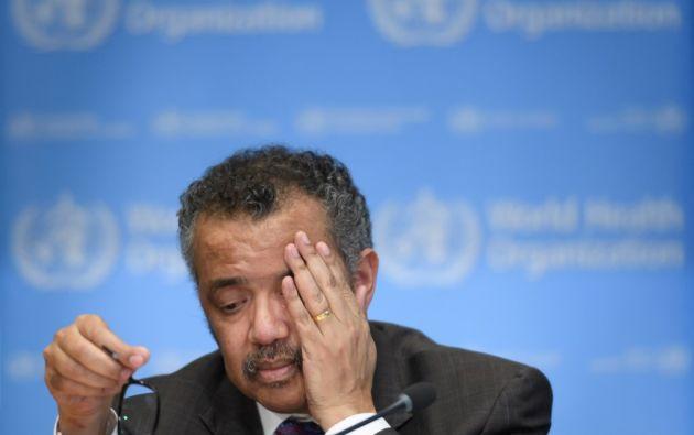 """El director de la OMS, Tedros Adhanom Ghebreyesus, advirtió """"levantar las restricciones demasiado rápido podría conducir a un rebrote mortal""""."""