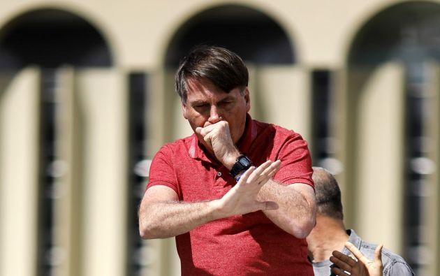 El presidente ultraderechista Jair Bolsonaro salió de nuevo de paseo. Foto: AFP