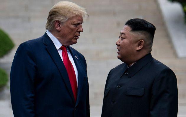 """""""Yo, por lo menos, estoy contento de ver que está de vuelta, ¡y (que está) bien!"""", escribió Trump. Foto: AFP"""