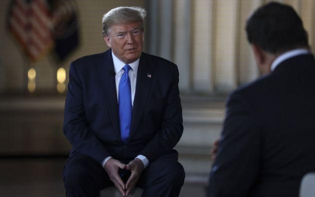 """""""Si otro país la consigue antes, me quitaré el sombrero"""", dijo Trump. Foto: AFP"""