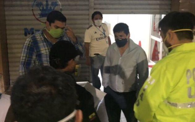 """El alcalde de Machala, Darío Macas, aseguró que buscaron documentos y """"no encontraron nada""""."""