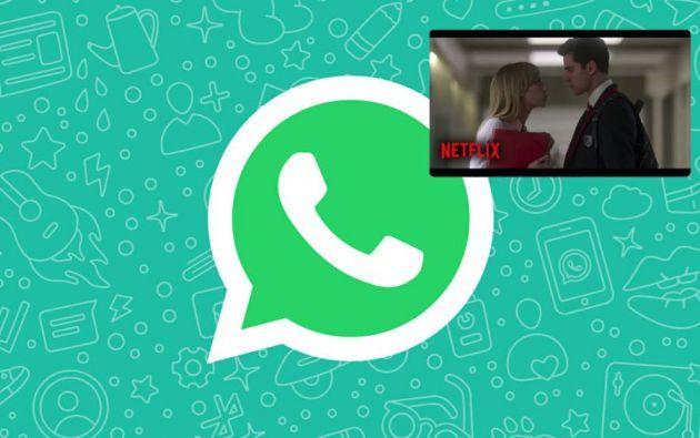 Netflix se podrá reproducir en la plataforma de WhatsApp al momento de compartir un link en el contenido y el usuario pueda responder al mismo tiempo. Esto ya es posible con YouTube o Instagram.