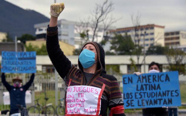 Estudiantes de la Universidad Central advirtieron duras protestas si no se revierte la decisión. Foto: AFP