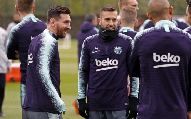 Imagen referencial. La plantilla del primer equipo del FC Barcelona volvió a los entrenamientos presenciales en la ciudad deportiva Joan Gamper, en las afueras de la ciudad catalana.