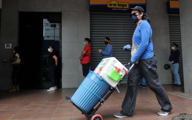En países como Colombia, Perú y Ecuador, donde hay más trabajadores autoempleados, se produjo más pérdida del empleo. Foto: AFP.