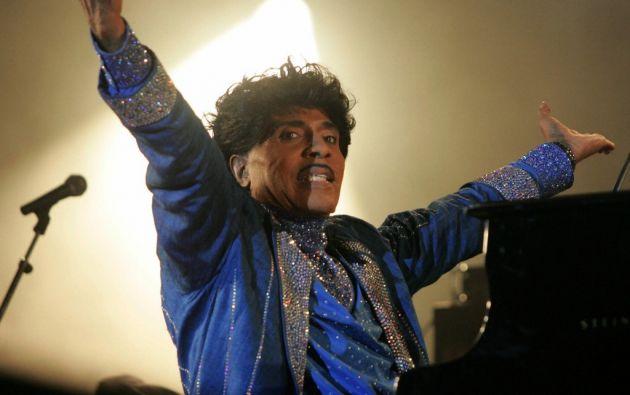 Little Richard impulsó en la década de 1950 un nuevo género, el rock and roll. Foto: AFP.