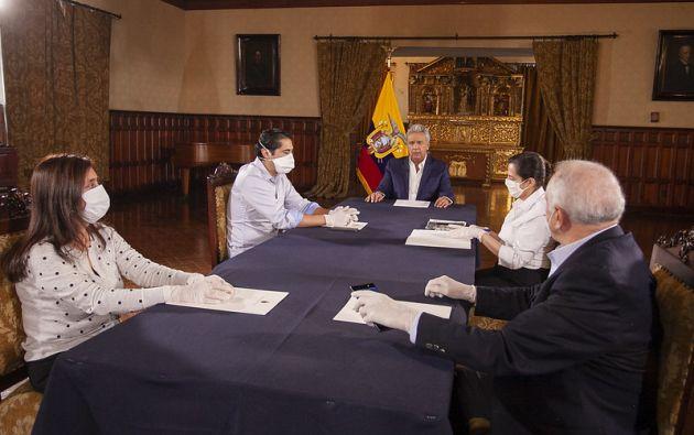 El presidente Lenín Moreno firmó el 8 de mayo el Decreto Ejecutivo en el que se reducen las remuneraciones de su Gabinete. Foto: Flickr Presidencia.