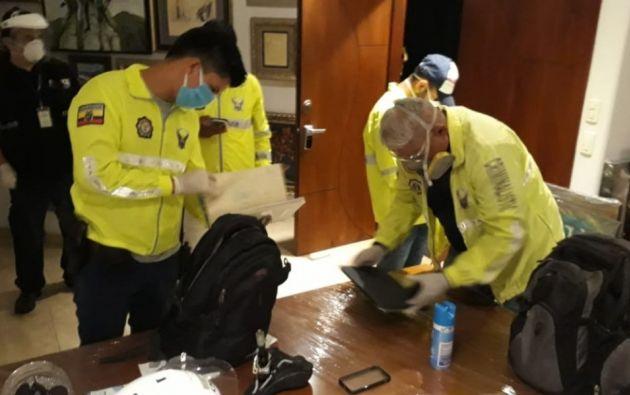 El operativo fue realizado por la Policía y la Fiscalía.