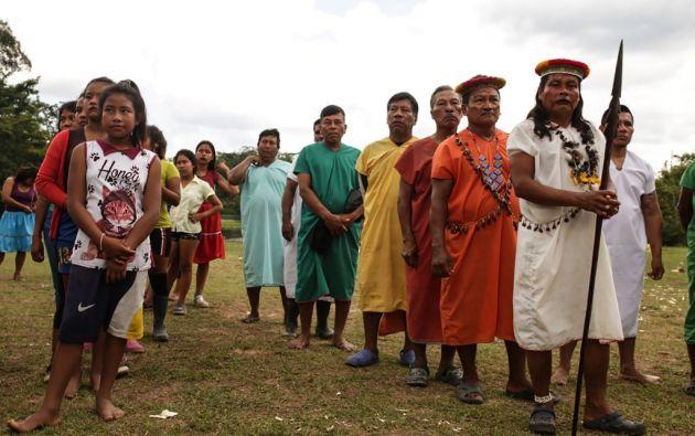 """El derrame de petróleo afectó a """"aproximadamente a 105 comunidades"""". Foto: AFP"""