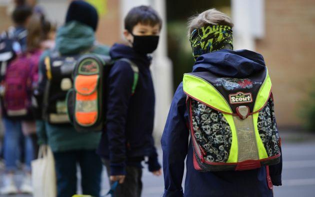 Solo un pequeño porcentaje de niños se ve gravemente afectado por el virus. Foto: AFP