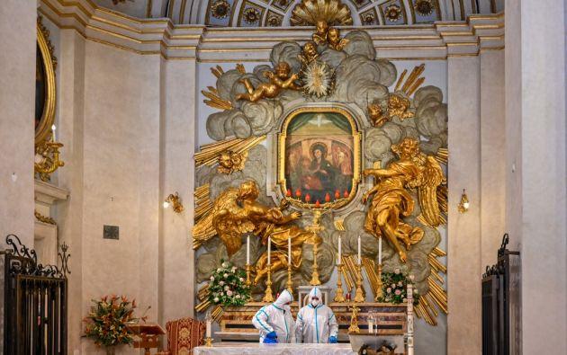 El cierre el 8 de marzo de los Museos Vaticanos, que reciben cerca de 7 millones de visitantes al año, es el mayor golpe a las finanzas del Vaticano.  Foto: AFP