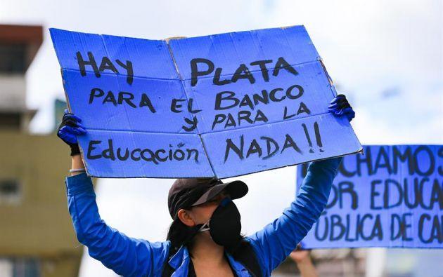 Una acción constitucional liderada por estudiantes y varias organizaciones consiguió suspender el recorte a la partida 51 de las universidades. Foto: EFE.