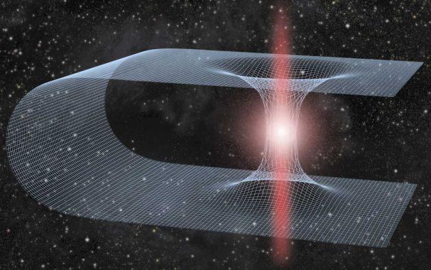 Un agujero negro es cuerpo espacial que absorbe todo lo que cae en él, sea materia o luz, y no vuelve a salir. Un agujero blanco es lo opuesto: que escupe todo. La idea era que quizás todo lo que caía en un agujero negro era expulsado al otro extremo, que era un agujero blanco.
