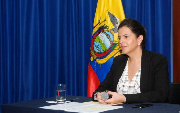 La ministra de Gobierno, María Paula Romo, señaló que mantienen a su juicio la facultad de un veto del Ejecutivo luego de su revisión.