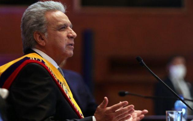 Hasta abril de 2020, el salario del presidente Moreno fue de $ 5.072 al mes. Foto: AFP