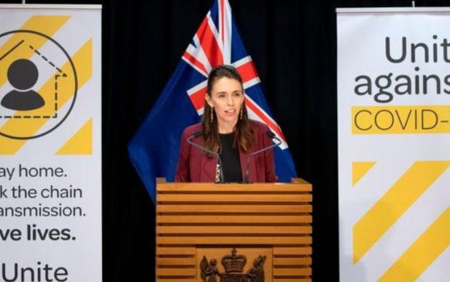 Primera ministra de Nueva Zelanda, Jacinda Ardern. Foto: AFP.