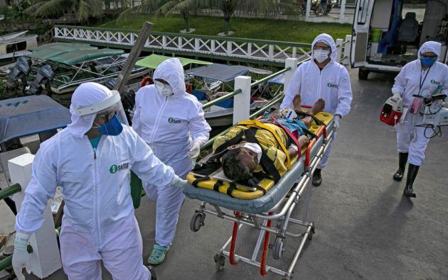 Brasil también registró el jueves por sexto día consecutivo más de 1.000 muertes en 24 horas. Foto: AFP