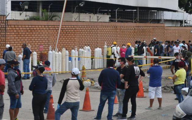 Guayaquil, epicentro de la emergencia sanitaria por el coronavirus en el país, ocupó el 70% de la demanda nacional de tanques de oxígeno.