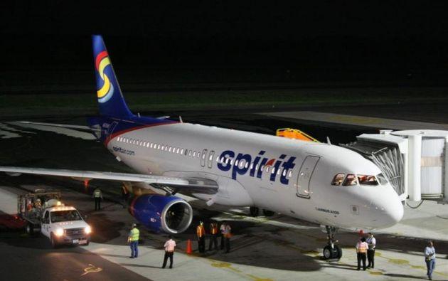 También será el primer vuelo comercial de Spirit Airlines a Latinoamérica desde que estalló la pandemia. Foto: EFE