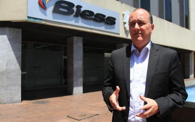 El exgerente del Biess, Vinicio Troncoso, dejó su cargo por el impedimento de separar a 11 funcionarios que no aportaban a la institución financiera pública. (Foto: Expreso)