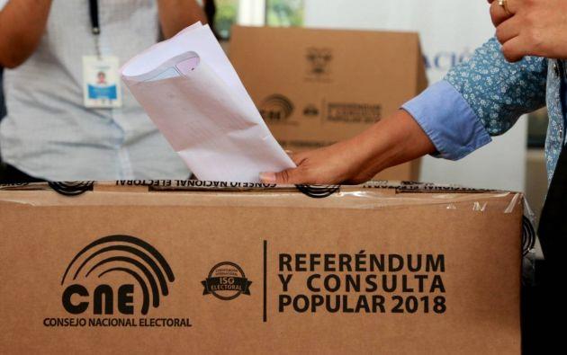 """En las 7 pregunta que se plantearon a los ecuatorianos el 4 de febrero de 2018 se impuso el """"Sí"""" impulsado por el Ejecutivo."""