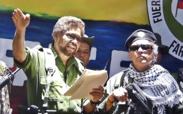 Jesús Santrich e Iván Márquez. Foto: AFP.