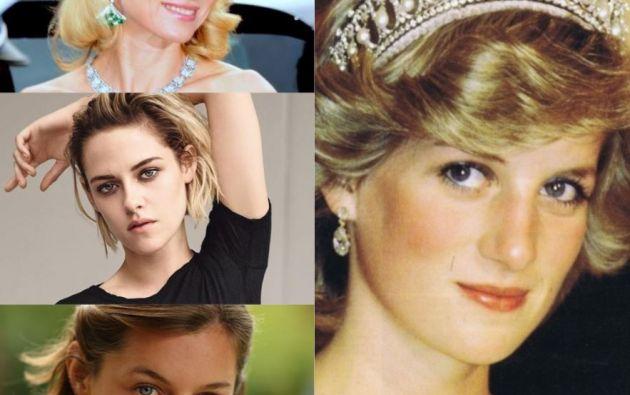 Princesa Diana, Naomi Watts, Emma Corrin y Kristen Stewart.