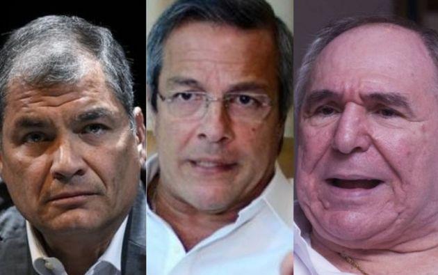 Rafael Correa, Jimmy Jairala y Abdalá Bucaram reaccionan por el fallecimieno de Morales.