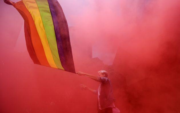 La mayoría de las iniciativas transcurrieron bajo la etiqueta Global Pride, un acto virtual de 24 horas. Foto: AFP