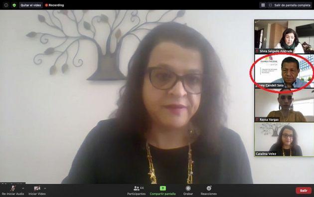 Catalina Vélez, presidenta del Consejo de Educación Superior, en la sesión de la Subcomisión de Educación