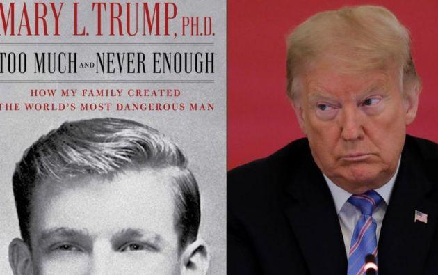 """Simon & Schuster describe el libro de Mary Trump como un retrato """"revelador y acreditado de Donald Trump y la familia tóxica que lo creó""""."""