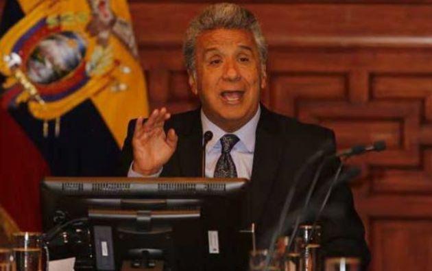 Presidente de Ecuador, Lenín Moreno. Foto: EFE.